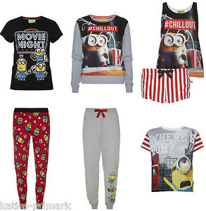 primark ladies minion minions movie time cinema pyjama. Black Bedroom Furniture Sets. Home Design Ideas