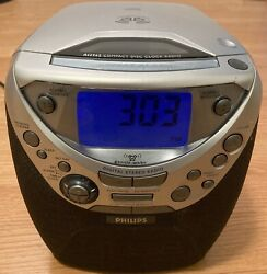 Philips AJ3965/17 Dual Alarm Clock CD Player AM/FM Radio