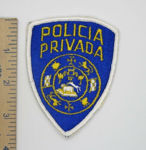 PUERTO RICO POLICIA PRIVADA POLICE PATCH Original Vintage