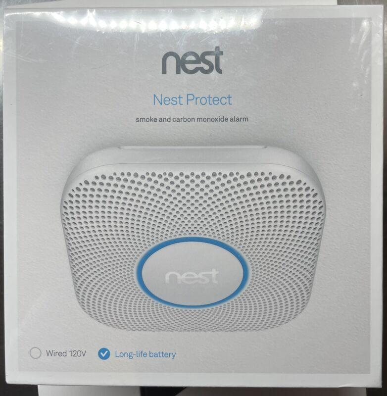 Nest Protect Smoke & Carbon Monoxide Alarm 2nd Gen Battery Version S3000BWES New