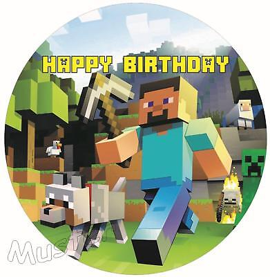 Essbarer Tortenaufleger Minecraft Tortenbild Tortendeko Kuchen Waffel Oblate