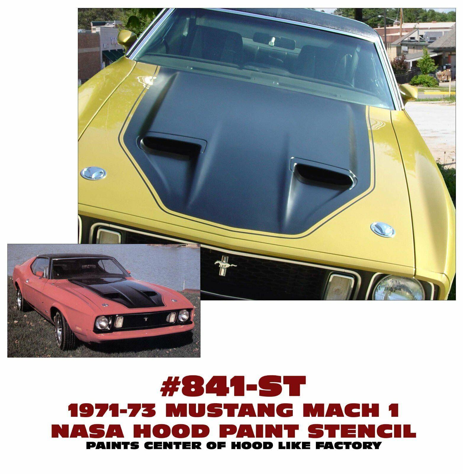 Graphic Express - 1971-73 Mustang Mach 1 NASA (NACA) Hood