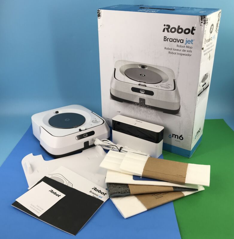 iRobot - Braava jet m6 6110 Robot Mop Wi-Fi Connected White #M9615