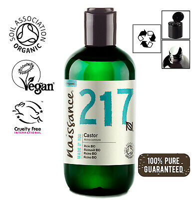 Naissance Rizinusöl BIO - 250ml - 100% rein kaltgepresst vegan hexanfrei