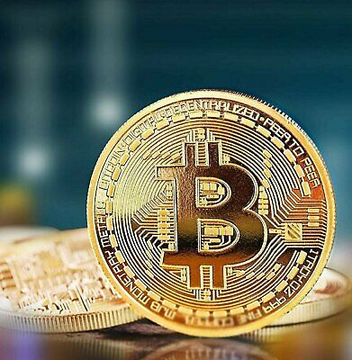 Gold Bitcoin Coins Commemorative 2020 New Collectors Gold Plated Bit Coin Coins