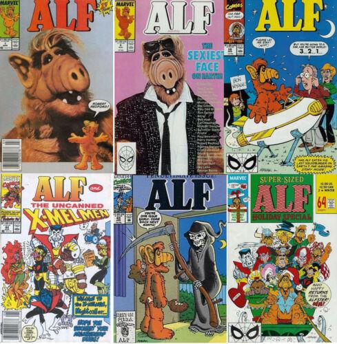 Original 1988-92 ALF TV Series Marvel Comic Book Collection- #1-50+  Your Choice
