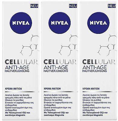 3 x 15ml Nivea Cellular Anti-Age Skin Rejuvenation Eye Cream