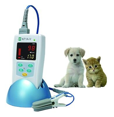 Nt1a-v Veterinary Use Handheld Pulse Oximeter W Protective Cover Carrying Bag