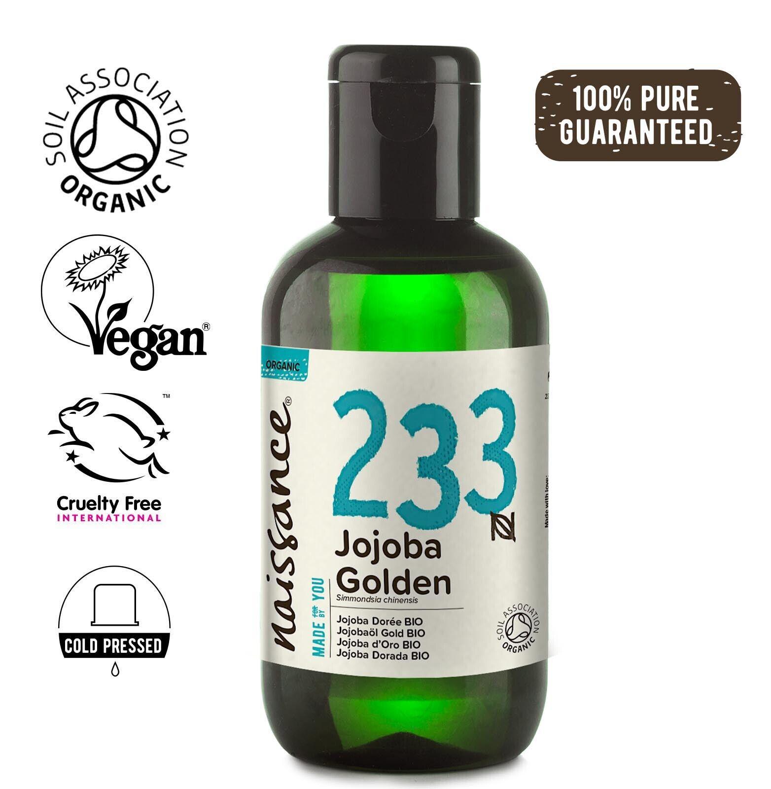 Naissance Huile de Jojoba Dorée BIO - 100ml - 100% pure et naturelle