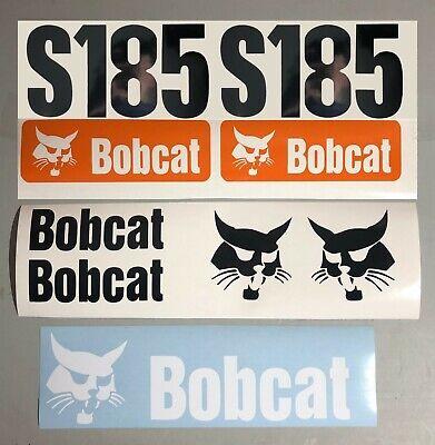 Bobcat S185 Set Of 7 Skid Steer Replacement Aftermarket Vinyl Decal Sticker