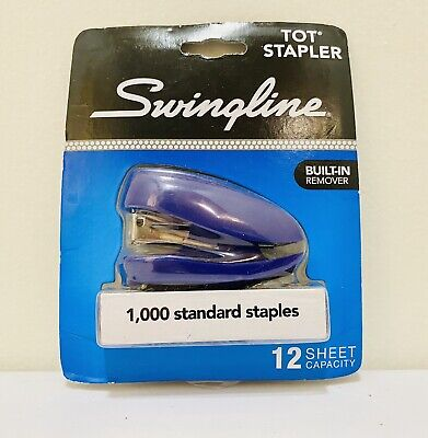 Swingline Mini Stapler Tot 12 Sheet 1000 Standard Staples Purple S7079173