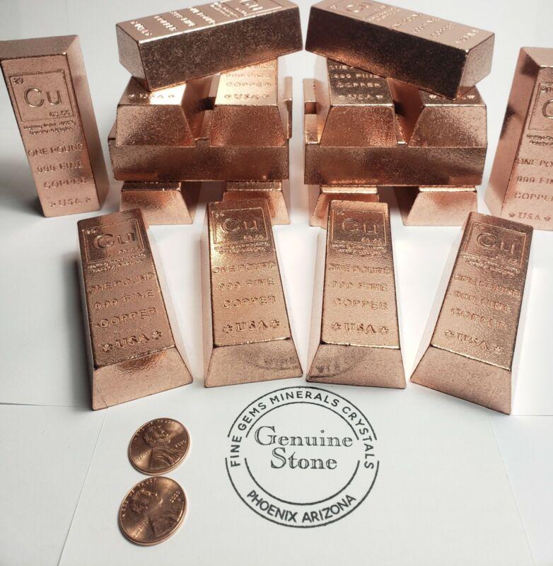 1 lb Copper Ingot .999 Fine Copper 16 oz copper bar Bullion