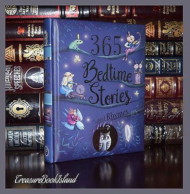 365 Bedtime Stories & Rhymes Illustrated Ribbon Marker New Deluxe Gift Hardcover