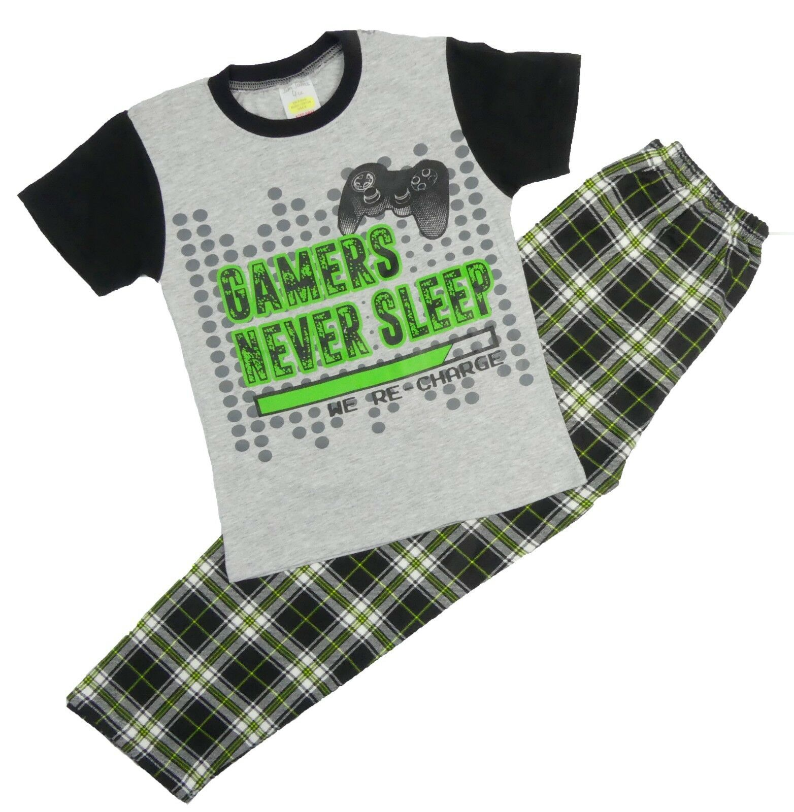 Boys Pyjamas Gamers Pyjamas Three Great Designs 7-13 Years Long and Short