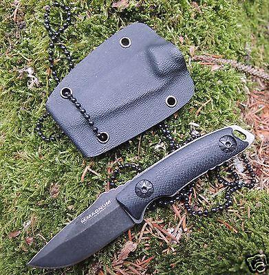 Böker Magnum Messer Li´L Friend Clip Point Mini Neckknife 440 Stahl Kydexscheide