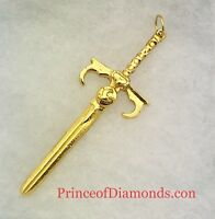 Sterling silver 24kt gold plated thunder cats sword pendant
