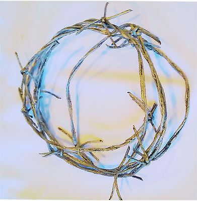 Plastic SILVER Faux BARBED WIRE 7ft Halloween Prop Decoration Haunted House 6-4D - Plastic Barbed Wire
