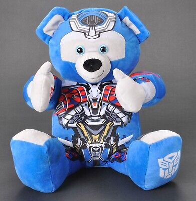 Build A Bear Blue Transformers Optimus Prime Plush Transforms to Autobot Jointed
