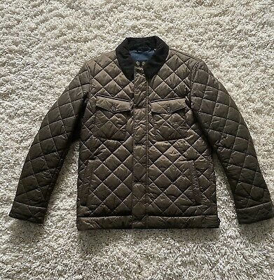 BARBOUR QUILTED JACKET BROWN SIZE S