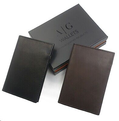 AG Wallets Mens Cowhide Leather L Fold Card & ID Unique Shape Bifold Wallet NEW