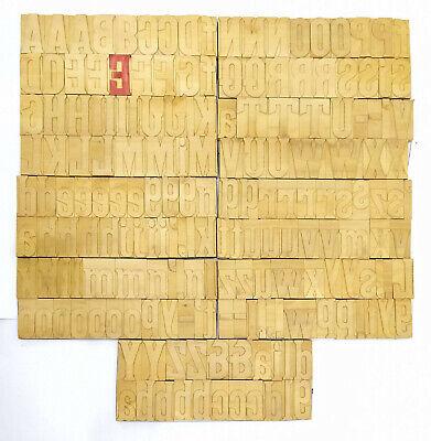Vintage Letterpress Woodwooden Printing Type Block Typography 183 Pc 85mmlb130