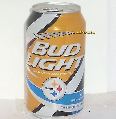2015 PITTSBURGH STEELERS BUD LIGHT KICKOFF BEER CAN FOOTBALL PENNSYLVANIA SPORTS