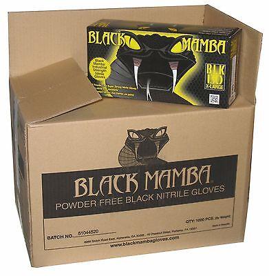 Black Mamba Gloves Nitrile Disposable HVAC Utility Heavy Duty Mechanic Thick PF