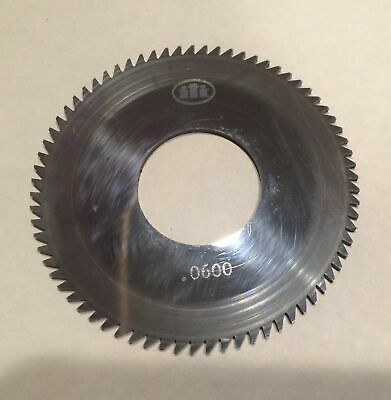 Solid Carbide Slotting Slitting Jeweler Blade Saw 2-58x.0600 X1 Bore Mill Iti