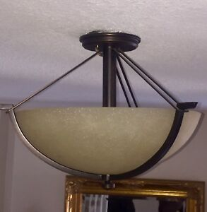 Beautiful semi flush light fixture