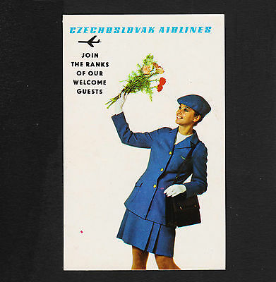 1970 Czechoslovak Airlines Advertising Pocket Calendar