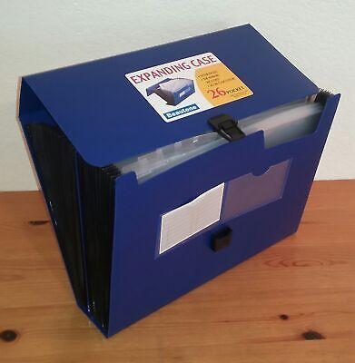 Beautone 26-pocket Expanding File Folder Case Letter Size Blue D4169
