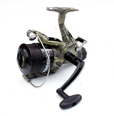 2 x Lineaeffe Commando 60 1BB Camo Freespool Carp Specimen Fishing Reels /& Cases