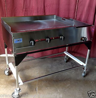 New 48 Taco Cart Plancha Flat Top Griddle Steam Table Propane Lp Gas 1234