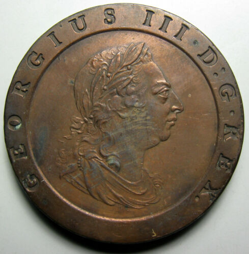 1797 Great Britain 2 Pence, NGC AU Details, Hairlines