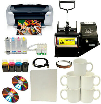 Mug Cup Heat Press Photo Printer Sublimation Ink Ciss Kittransfer Paper Bundle