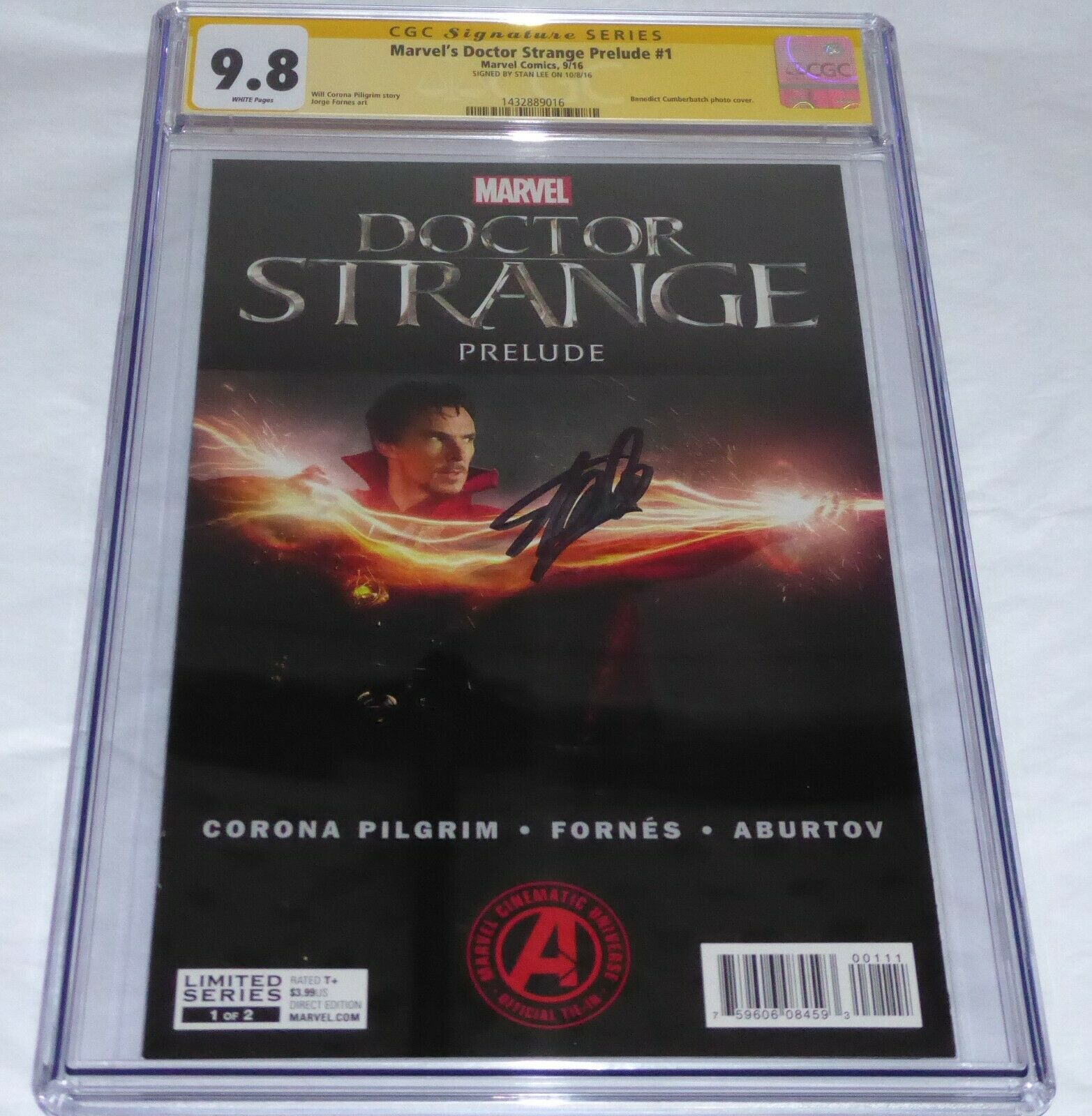 Marvel's Doctor Strange Prelude #1 CGC SS Signature Autograph STAN LEE Variant