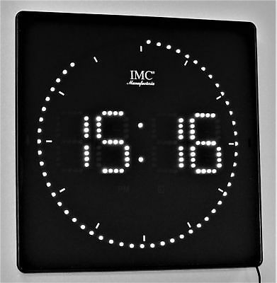 LED - Wanduhr mit Zahlen weiß quadratisch digital Uhr Datum Temperatur Alarm P