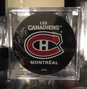 Montreal Canadiens Guy Lafleur Signed Puck