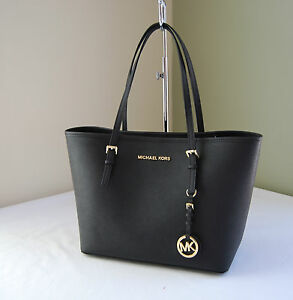 Michael-Kors-Jet-Set-Travel-Saffiano-Leather-Small-Tote-Black