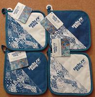 4 Manoplas Azul-blanco Sochi 2014. 4 Potholders Sochi 2014 Olympic Games -  - ebay.es