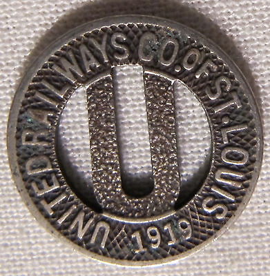 Vintage 1919 United Railways Co of St Louis Transit Token MO-910D whotoldya