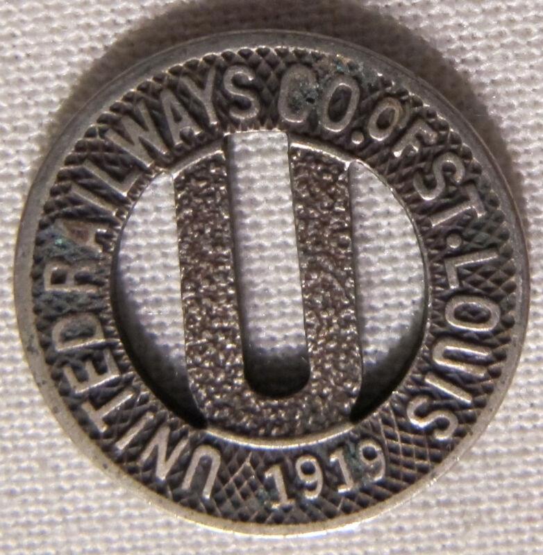 Vintage 1919 United Railways Co of St Louis Transit Token MO-910D whotoldya