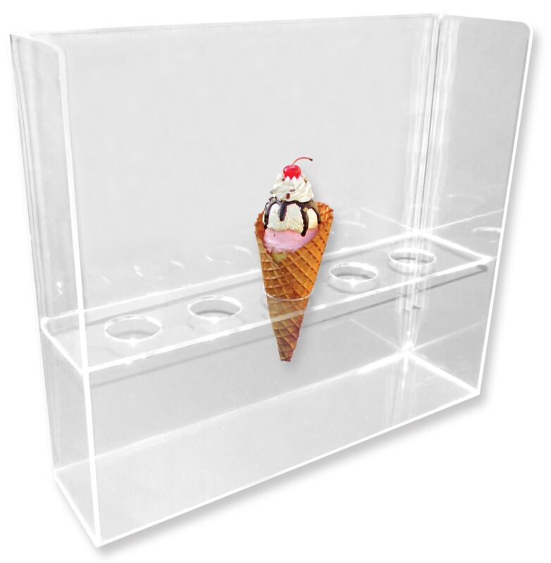Old World Cone - 5-Hole Waffle Cone Ice Cream Stand/Holder/Display