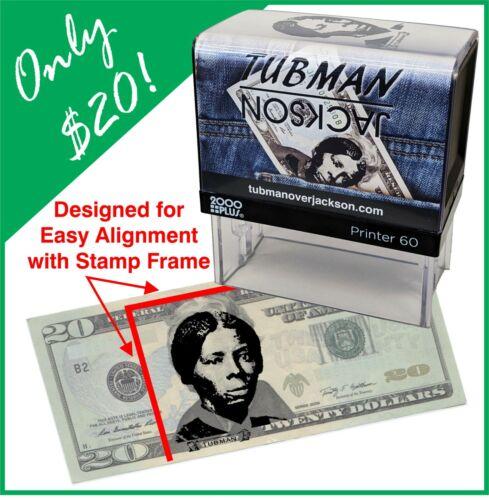 Harriet Tubman Self Inking Rubber Stamp $20 Bill Harriet Tubman stamp