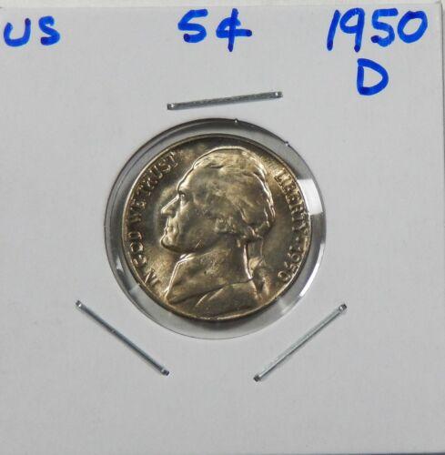 1950-D  Jefferson Nickel  Uncirculated  Key Date