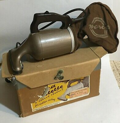 Norca / Hoover Dustette vintage handheld vacuum model 8015 with box - works
