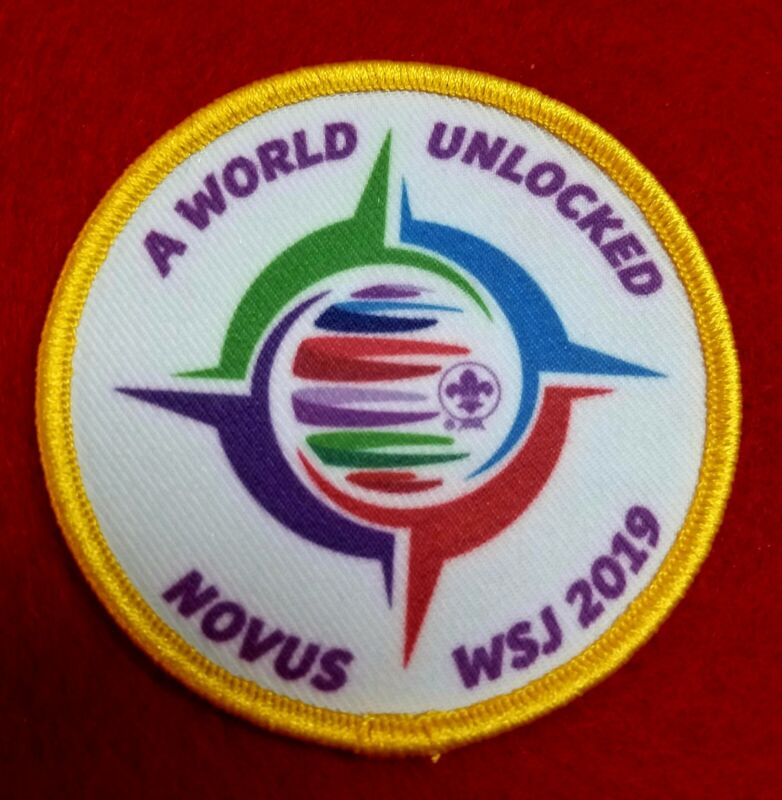2019 WORLD JAMBOREE WIDE GAME PARTICIPATION AWARD FROM NOVUS ***FREE SHIPPING***