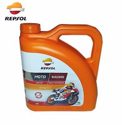 Aceite Repsol Moto Racing 4T 10W50   4 Litros   Lubricante  ...