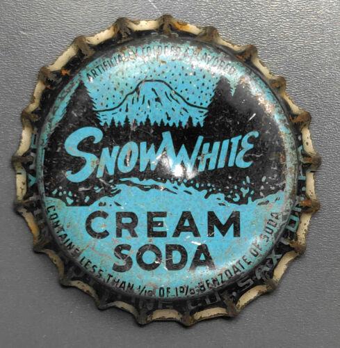 Vintage Used Snow White Cream Soda Cork Bottle Cap - Saxton, Pa.