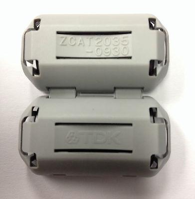 10 Pc Lot - Tdk 9mm Clip-on Rfi Emi Av Filter Ferrite Ring Core Zcat2035-0930a